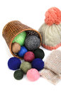 Balls of wool Royalty Free Stock Photo