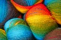 Balls of wool closeup picture colorful Royalty Free Stock Image