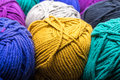 Balls of yarn assorted colorful wool Royalty Free Stock Photography