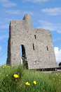 Ballybunions old castle ruins Royalty Free Stock Photo