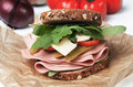 Baloney sandwich Royalty Free Stock Photo