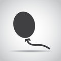 Baloon icon with shadow on a gray background. Vector illustration