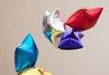 Baloons in air few colorful and holiday concept Royalty Free Stock Images