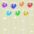Baloons balloons in the shape of heart Royalty Free Stock Image