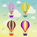 Baloons flying in the sky