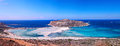 Balos beach panorama Royalty Free Stock Photos