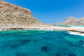 Balos beach view from gramvousa island crete in greece magical turquoise waters lagoons beaches of pure white sand Royalty Free Stock Photo