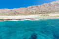 Balos beach view from gramvousa island crete in greece magical turquoise waters lagoons beaches of pure white sand Stock Photos
