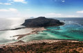 Balos lagoon crete greece and cap tigani Stock Photography