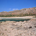 Balos, a lagoon of three seas near Gramvousa Stock Photo