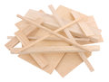 Balsa Wood Samples Royalty Free Stock Photo