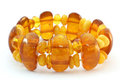 Baltic amber bracelet Stock Images