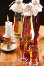 Baltic amber liqueur Stock Photo