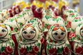 Russian Dolls in a shop in St Petersburg Russia Royalty Free Stock Photo
