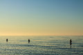 Baltic sea angler on shore of the Stock Photo