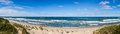 Baltic sea beach panorama shot Royalty Free Stock Photo