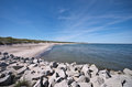 Baltic sea beach scene south coast Stock Photo