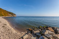 Baltic sea coast gdynia poland the focus on foreground Royalty Free Stock Photo