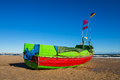 Baltic sea a fishing boat on shore of the Royalty Free Stock Image
