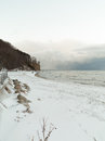 Baltic sea gdynia cliff in orlowo poland winter scenery bay beautiful landscape Royalty Free Stock Photography