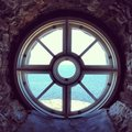 Baltic sea lighthouse window bengtskar is a in finland Stock Photo