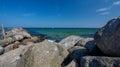 Baltic Sea, rocks, beautiful landscape Royalty Free Stock Photo