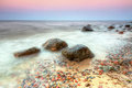 Baltic sea scenery gdynia orlowo sunset poland Stock Photo