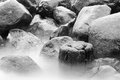 The baltic seashore close up of a rocky coastline Royalty Free Stock Image