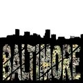 Baltimore grunge with skyline Royalty Free Stock Photo
