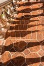 Baluster shadows, Tlaquepaque in Sedona, Arizona Royalty Free Stock Photo