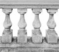 Baluster spindle (balaustrade) isolated over white Royalty Free Stock Photo