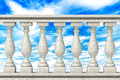 Balustrade pillars on a sky background Royalty Free Stock Images