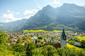 Balzers village in Liechtenstein Royalty Free Stock Photo