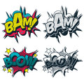 Bam and boom comic book style  graphic Stock Image