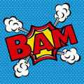 Bam comics icon over blue background vector illustration Royalty Free Stock Photo