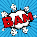 Bam comics icon over blue background vector illustration Stock Images
