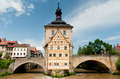 Bamberg rathaus famous and bridge Stock Photo
