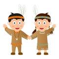 Bambini del nativo di ringraziamento Fotografia Stock Libera da Diritti