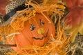 Bambola della zucca Fotografia Stock Libera da Diritti