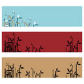 Bamboo banners Stock Photo