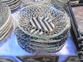 Bamboo basket close up of Royalty Free Stock Images