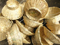 Bamboo baskets Stock Photos