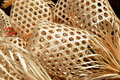 Bamboo basketwork natural handmade from in thailand Royalty Free Stock Photos