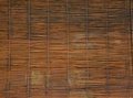 Bamboo blind brown old background Royalty Free Stock Photography