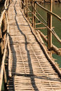 Bamboo bridge close up of a in asia Stock Image