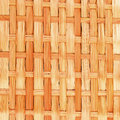 Bamboo brown tablecloth texture of close up Royalty Free Stock Image