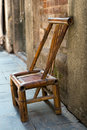 Bamboo chair Stock Photo