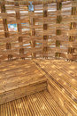 Bamboo construction interior view pattern Royalty Free Stock Images