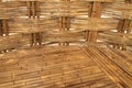 Bamboo construction interior view pattern Royalty Free Stock Image