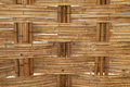 Bamboo construction interior view pattern Stock Photos